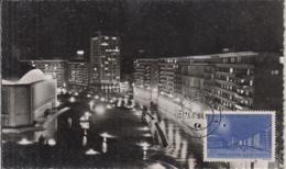 BUCHAREST PALACE SQUARE, TOTAL SOLAR ECLIPSE STAMP, CM, MAXICARD, CARTES MAXIMUM, 1961, ROMANIA - Maximumkarten (MC)