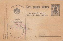 WW1 LETTER, MILITARY CENSORED, KING FERDINAND PC STATIONERY, ENTIER POSTAL, ROMANIA - Cartas De La Primera Guerra Mundial