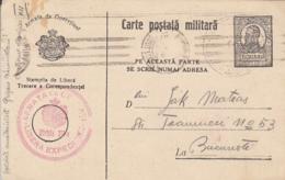 KING FERDINAND, FREE MAIL, MILITARY PC STATIONERY, ENTIER POSTAL, ROMANIA - Cartas