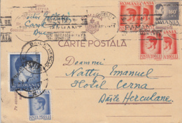 KING MICHAEL STAMPS ON POSTCARD, 1947, ROMANIA - 1918-1948 Ferdinand, Carol II. & Mihai I.