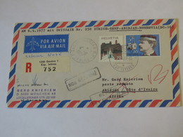 Switzerland First Flight Cover  Zurich -  Genf - Abidijan - Monrovia 1977 - Svizzera