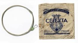 """Pochette 80 X 80 Mm - Cordes Harmoniques """"Célesta"""" Paul Beuscher Avec Une Corde Pour Mandole - RF - Accessoires, Pochettes & Cartons"""
