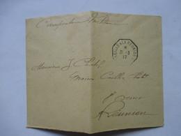 ENVELOPPE  EXPEDIEE DE MADAGASCAR  -  CORRESPONDANCE MILITAIRE  - CACHET DE BATEAU MARSEILLE A  LA REUNION   N°6     TTB - 1877-1920: Période Semi Moderne