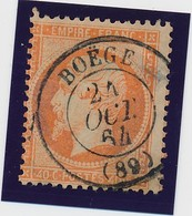 "40 C Orange Obl Càd ""BOEGE"" Rare B/TB. - 1862 Napoléon III"