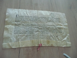 Beau Diplôme  Cire 1752 Sur Velin - Diploma & School Reports