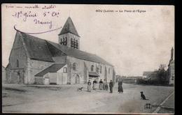 45, Bou, La Place Et L'eglise - France