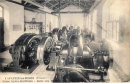 France - 23 - Lavaveix-les-Mines - Près De Laschamps , Pourtoux , Bourlat - Usine Hydro-Electrique - Salle Des Machines - Otros Municipios