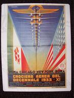 MINI POSTER  CROCIERA AEREA DEL DECENNALE 1933 - Posters