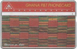 Ghana P&T 120 UT Kente Cloth Ebusua Ye Dem Phonecard - Ghana