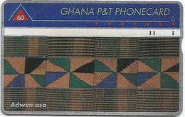 Ghana P&T 60 UT Kente Cloth Adwen Asa Phonecard - Ghana