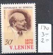 Senegal Mnh ** Lenin 3 Euros - Senegal (1960-...)