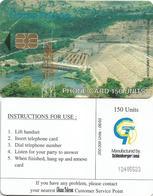 Ghana Telecom 150 UT 06/03 200.000 Akosombo Hydrodam Electricity Schlumberger Phonecard - Ghana