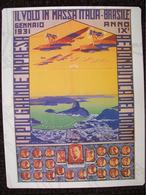 MINI POSTER  IL VOLO IN MASSA ITALIA-BRASILE 1931 - Posters