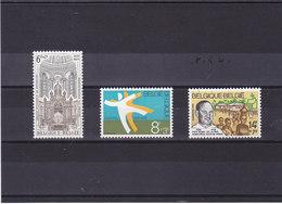 BELGIQUE 1978 ANNIVERSAIRES Yvert 1913-1915 NEUF** MNH - Belgique