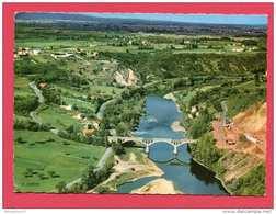 CPSM Réf : S 623) 42-187-135 Environs De ROANNE (42 LOIRE) Vue Aérienne Sur La Loire Et Le Pont De Villerest - Roanne