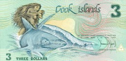 COOK ISLANDS 3 Dollars 1992 P 6 UNC Pacific Arts Festival O/p - Cook