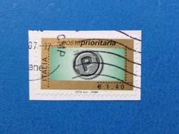 2007 ITALIA FRANCOBOLLO USATO STAMP USED - POSTA PRIORITARIA 1,40 PRIORITARIO - 6. 1946-.. Repubblica
