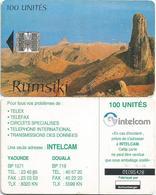 Cameroon Cameroun 100 UT CAM-37 INTELCAM Rumsiki Mountains Schlumberger Phonecard - Camerún