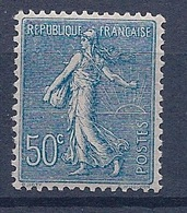 FRANCE - 161  50C BLEU SEMEUSE LIGNÉE NEUF** MNH LUXE COTE 85 EUR - Nuovi