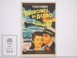 Original 1943 Crash Dive Cinema / Movie Advt Leaflet - Tyrone Power, Anne Baxter, Dana Andrews - Publicidad