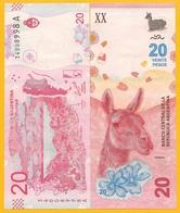 Argentina 20 PesosP-361 2017 (Suffix A) UNC Banknote - Argentine