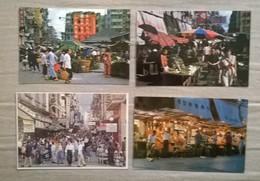 Lot De 4 Cartes Postales / Marchés HONG KONG - Cina (Hong Kong)
