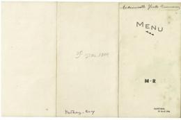 Menu 3 Feuillets, 102 X 190 Mm - Saint Boil, 29/4/1946 & Menu 1 Feuille 80 X 160 Mm, Saint Boil 30/4/46 - Menus