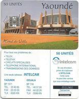 Cameroon Cameroun 50 UT CAM-36 INTELCAM Yaounde Townhall Schlumberger Phonecard Telecard - Kameroen
