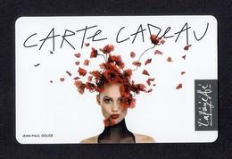 Carte Cadeau GALERIES LAFAYETTE.   Jean-Paul GOUDE.    Gift Card. - Cartes Cadeaux