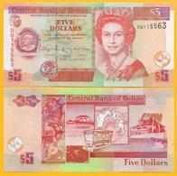 Belize 5 Dollars P-67 2016 UNC Banknote - Belize