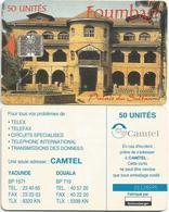 Cameroon Cameroun 50 UT CAMTEL Foumban Palais De Sultan Schlumberger Phonecard Telecard - Kameroen