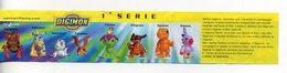 DIGIMON - 1999 - Cartina 1^ E 2^ Serie - (FDC15687) - Kinder & Diddl