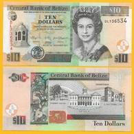 Belize 10 Dollars P-68d 2011 UNC Banknote - Belize