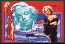 Mongolia, 1995, Marilyn Monroe, Actress, Cinema, Film, Boat, Ship, MNH Sheet, Michel Block 250 - Mongolie