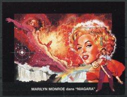 Mongolia, 1995, Marilyn Monroe, Actress, Cinema, Film, Niagara Waterfall, MNH Sheet, Michel Block 251 - Mongolia