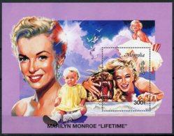 Mongolia, 1996, Marilyn Monroe, Actress, Cinema, Film, MNH Sheet, Michel Block 255 - Mongolie