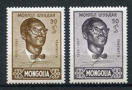 Mongolia, 1961, Patrice Lumumba, Congo, MNH, Michel 212-213 - Mongolie