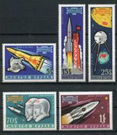 Mongolia, 1963, Space, MNH, Michel 323-327 - Mongolie