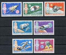Mongolia, 1969, Apollo, Space, MNH, Michel 570-576 - Mongolie