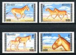 Mongolia, 1988, Wild Donkeys, Animals, Fauna, MNH, Michel 1995-1998 - Mongolie
