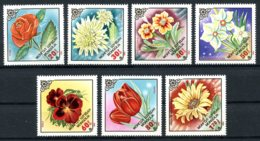 Mongolia, 1983, Flowers, Flora, MNH, Michel 1560-1566 - Mongolie
