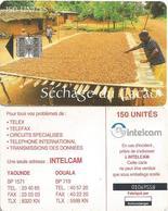 Cameroon Cameroun 150 UT CAM-38 INTELCAM Sechage Cacao Cocoa Drying Schlumberger Phonecard Telecard - Cameroon