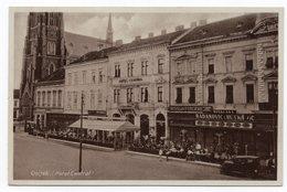1920s YUGOSLAVIA,CROATIA, OSIJEK HOTEL CENTRAL, NO STAMP, POSTAGE DUE 2 DINAR IN BELGRADE, ILLUSTRATED POSTCARD, USED - Yugoslavia