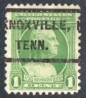 """USA Precancel Vorausentwertung Preo, Locals """"KNOXVILLE"""" (TEN). - United States"""