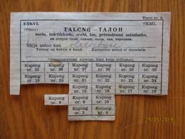 WW II  ESTONIA  ESTLAND USSR  RATION CARD FOR PETROLEUM  SALT TEA SOAP  MATCHES ,  1945 , 0 - Unclassified