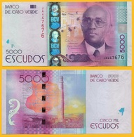 Cape Verde 5000 Escudos P-75 2014 UNC Banknote - Cape Verde