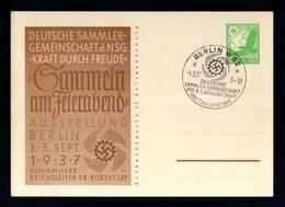 J216-GERMAN EMPIRE-.MILITARY PROPAGANDA POSTCARD GERMAN EXHIBITION Berlin 1937.WWII.DEUTSCHES REICH.Postkarte.Carte Post - Ganzsachen