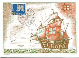 69 - 99 - Carte PEN Avec Timbre Europa 1963 Et Oblit 1er Jour - Marcophilie