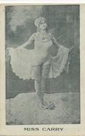 Postcard Circus MISS CARRY - TATTOO WOMAN - - Circus