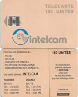 Cameroon Cameroun 150 UT CAM-30 INTELCAM Small Arrow Orange Back Schlumberger Phonecard Telecard - Cameroon
